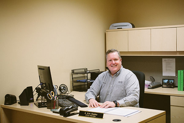 A. Kirk Bagley, office manager of dentist office in Pasco, WA